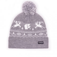 Шапка Footwork POM-PON XMAS LIGHT GRAY MELANGE